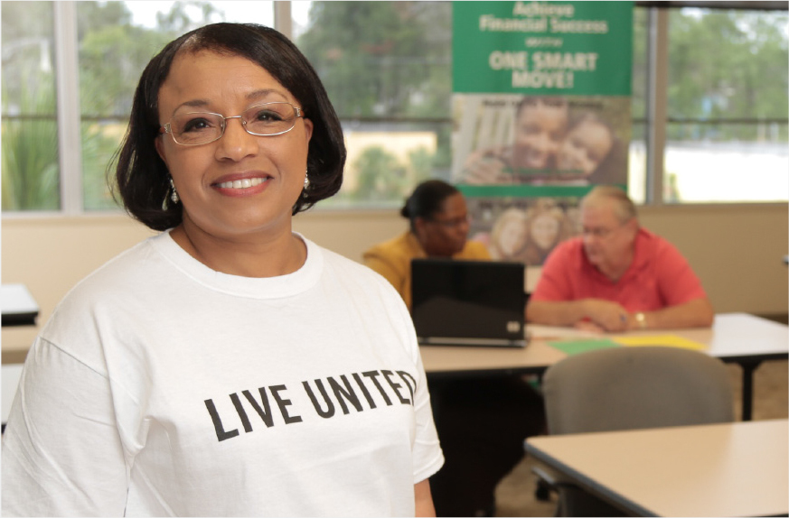Volunteer Barbara Armstrong at a RealSense site